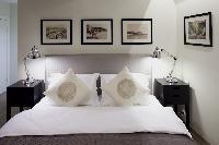 fresh and clean bedroom linens in Deluxe Istanbul Suite with Bosphorus View luxury apartment