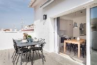 awesome Sitges Sant Sebastiàn Calm Beach Penthouse luxury apartment