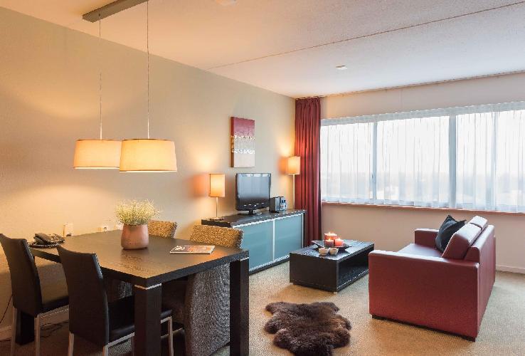 awesome open-plan living room of Amstelveen Corneille luxury apartmentAmstelveen Corneille luxury ap