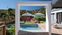 cool swimming pool of Saint Barth Villa Rockfish luxury holiday home, vacation rental