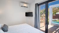 clean bedroom linens in Saint Barth Villa Rockfish luxury holiday home, vacation rental