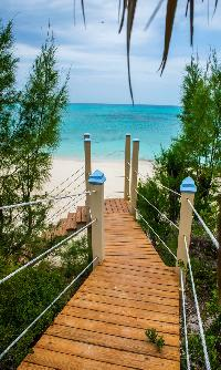 private beach walk of Bahamas Luxury Villa holiday home, vacation rental