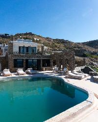 cool swimming pool of Athens Villa De Niro luxury holiday home, vacation rental