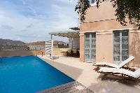 cool swimming pool of Athens Villa Romeo luxury holiday home, vacation rental