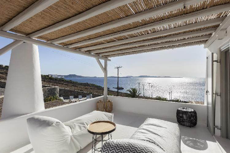fabulous seafront Mykonos Villa Oriana luxury holiday home, vacation rental