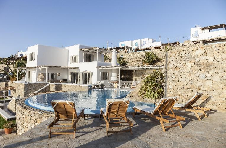 cool Mykonos Villa Oriana luxury holiday home, vacation rental