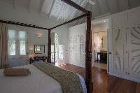clean bedroom linens in Saint Barth Villa Belle Bague luxury holiday home, vacation rental