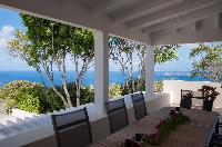 amazing sea view from Saint Barth Villa Belle Bague luxury holiday home, vacation rental