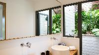 clean bathroom in Saint Barth Villa Coco Rock luxury holiday home, vacation rental