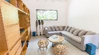 cool living room of Saint Barth Villa Coco Rock luxury holiday home, vacation rental