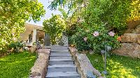 cool garden of Saint Barth Villa Coco Rock luxury holiday home, vacation rental