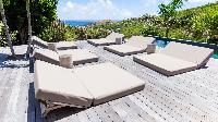 cool balcony of Saint Barth Villa Coco Rock luxury holiday home, vacation rental