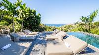 cool poolside of Saint Barth Villa Coco Rock luxury holiday home, vacation rental
