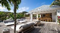 cool cabana of Saint Barth Villa Coco Rock luxury holiday home, vacation rental