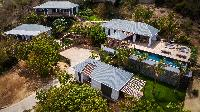 splendid aerial view of Saint Barth Villa Coco Rock luxury holiday home, vacation rental
