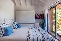 fresh bed sheets in Saint Barth Villa Javacanou luxury holiday home, vacation rental