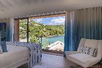 fresh bedroom linens in Saint Barth Villa Javacanou luxury holiday home, vacation rental