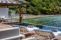 cool infinity pool of Saint Barth Villa Javacanou luxury holiday home, vacation rental