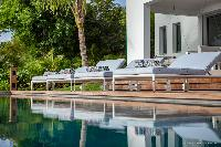 cool swimming pool of Saint Barth Villa Javacanou luxury holiday home, vacation rental