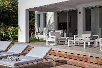 cool patio of Saint Barth Villa Javacanou luxury holiday home, vacation rental