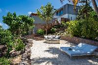 cool poolside of Saint Barth Villa Javacanou luxury holiday home, vacation rental