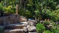 amazing garden of Saint Barth Villa Javacanou luxury holiday home, vacation rental