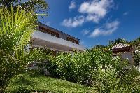 lovely garden of Saint Barth Villa Javacanou luxury holiday home, vacation rental