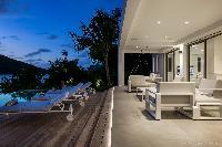 cool lanai of Saint Barth Villa Javacanou luxury holiday home, vacation rental