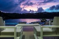 beautiful balcony of Saint Barth Villa Javacanou luxury holiday home, vacation rental
