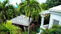 cool garden of Saint Barth Villa La Desirade luxury holiday home, vacation rental