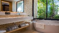 cool freestanding bathtub in Saint Barth Villa Neo luxury holiday home, vacation rental