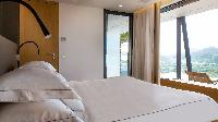 fresh bedroom linens in Saint Barth Villa Neo luxury holiday home, vacation rental