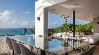 cool lanai of Saint Barth Villa Neo luxury holiday home, vacation rental