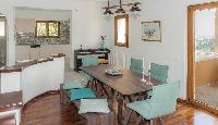 delightful dining area in Corfu Villa Stephandra luxury holiday home, vacation rental