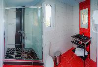 cool shower in Corfu Villa Stephandra luxury holiday home, vacation rental