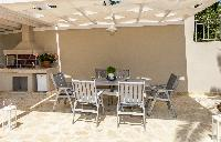 cool patio of Corfu Villa Stephandra luxury holiday home, vacation rental