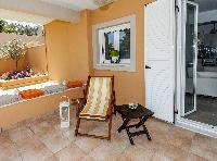 pretty patio of Corfu Villa Stephandra luxury holiday home, vacation rental