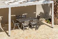cool veranda of Corfu Villa Stephandra luxury holiday home, vacation rental