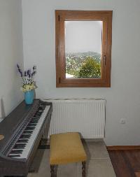 cool keyboards at Corfu Villa Stephandra luxury holiday home, vacation rental