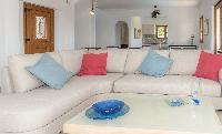 delightful living room of Corfu Villa Stephandra luxury holiday home, vacation rental