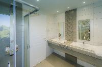 clean bathroom in Corfu Villa Stephandra luxury holiday home, vacation rental