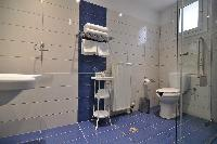 clean toilet and bath in Corfu Villa Stephandra luxury holiday home, vacation rental