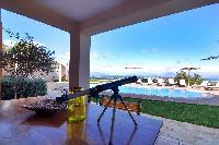 beautiful grounds of Corfu Villa Stephandra luxury holiday home, vacation rental