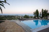 cool swimming pool of Corfu Villa Stephandra luxury holiday home, vacation rental