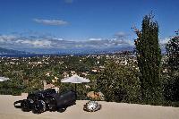 cool balcony of Corfu Villa Stephandra luxury holiday home, vacation rental