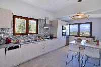 amazing kitchen of Corfu Villa Stephandra luxury holiday home, vacation rental