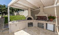 cool outdoor oven at Corfu Villa Stephandra luxury holiday home, vacation rental