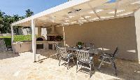 cool lanai of Corfu Villa Stephandra luxury holiday home, vacation rental