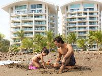 amazing beach next to Costa Rica Diamante del Sol 801N luxury apartment