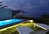 cool swimming pool of Corfu Villa luxury apartment, holiday home, vacation rental